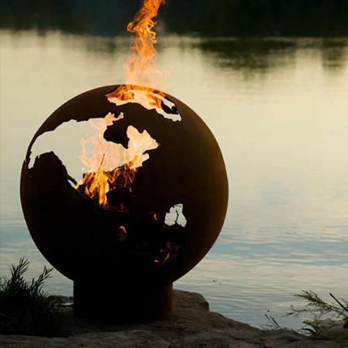 ... Third Rock Globe Fire Pit ... - Fire Pit Art Third Rock