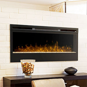 BUILT IN OR ELECTRIC FIREPLACE