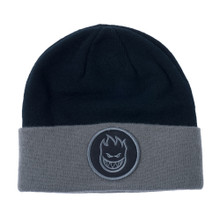 Spitfire Bighead Circle Patch Cuff Beanie (Black)