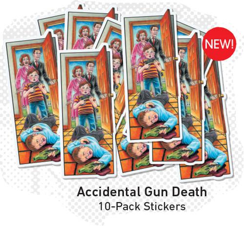 Blind Mariano Accidental Gun Death Sticker Pack (10 pack)