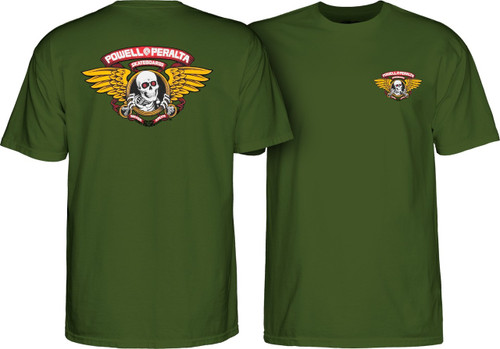 Powell Peralta Old School Winged Ripper T-Shirt (Olive)