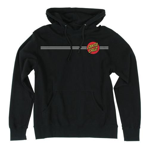 Santa Cruz Classic Dot Pullover Hooded Sweatshirt (Black)