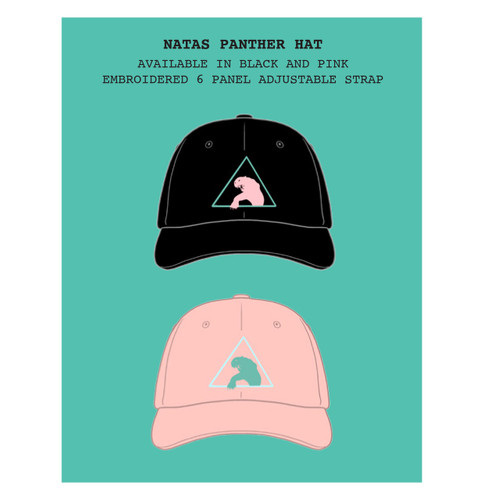 **Pre-Order** SMA Santa Monica Airlines Natas Panther 6 Panel Embroidered Strapback Hat (Available in 2 Colors)