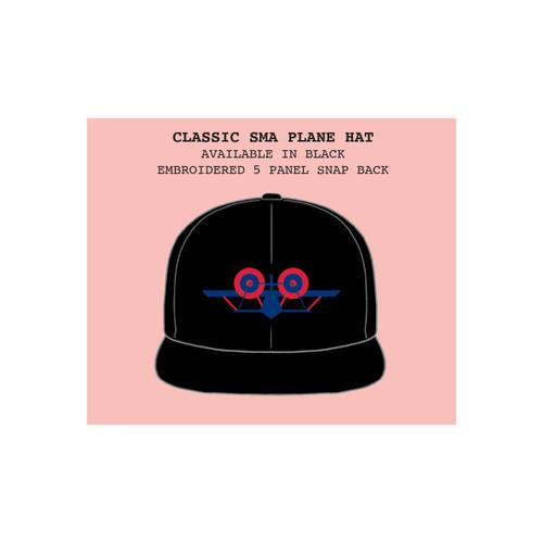 **Pre-Order** SMA Santa Monica Airlines Classic Plane Logo 5 Panel Snapback Hat (Black)