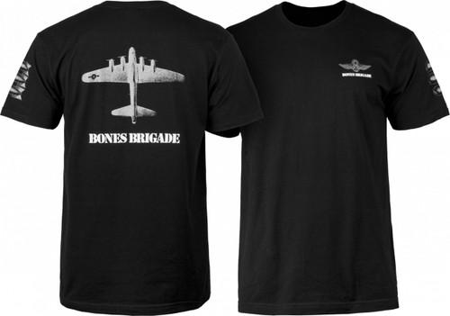 Powell Peralta Bones Brigade Bomber T-Shirt (Black)