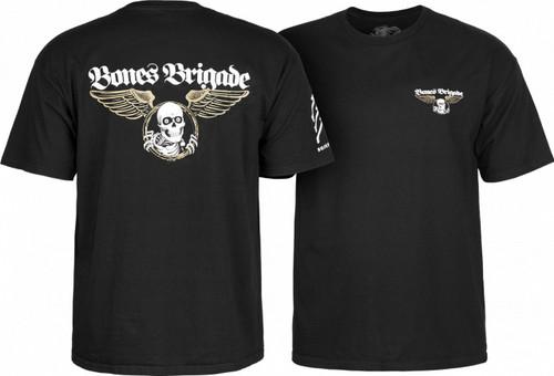 Powell Peralta Bones Bones Brigade Logo T-Shirt (Black)