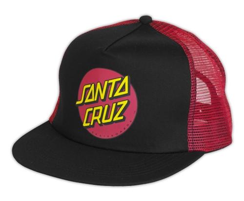Santa Cruz Red Dot Mesh Trucker Hat