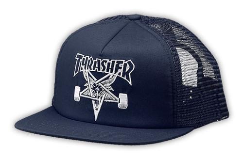 Thrasher Skate Goat Emblem Trucker Snapback Hat Thrasher-Sk8-Goat-Hat4