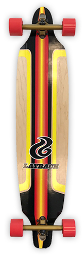 Layback Finish Line 40 Drop Through Complete Longboard FREE USA SHIPPING
