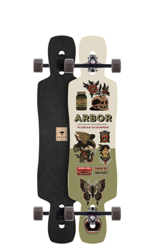 """Arbor Catalyst AC Longboard 9.13"""" X 40"""" (Available as Deck or Complete) FREE USA SHIPPING"""