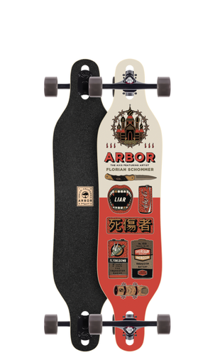 """Arbor Axis 40 AC Longboard 9"""" X 40"""" (Available as Deck or Complete) FREE USA SHIPPING"""