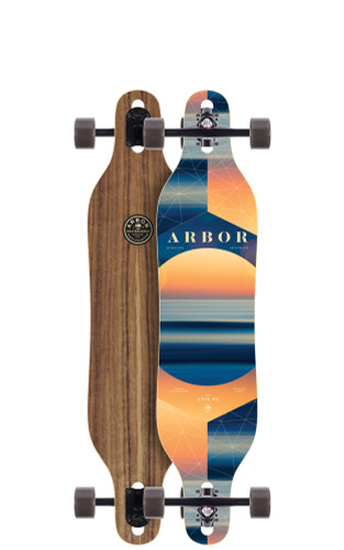 """Arbor Axis 40 PC Longboard 8.8"""" X 40"""" (Available as Deck or Complete) FREE USA SHIPPING"""