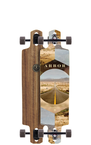 "Arbor Dropcruiser PC Longboard 9.5"" X 38"" (Available as Deck or Complete) FREE USA SHIPPING"
