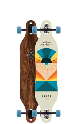 "Arbor Axis 40 Flagship Longboard 8.8"" X 40"" (Available as Deck or Complete) FREE USA SHIPPING"