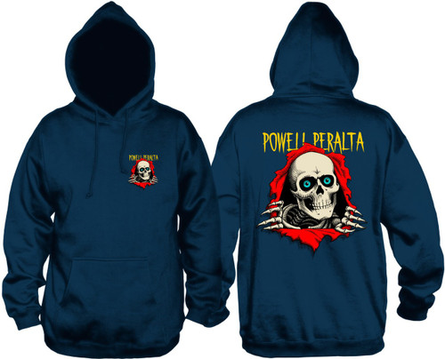 Powell Peralta Ripper Pullover Hooded Sweatshirt Navy