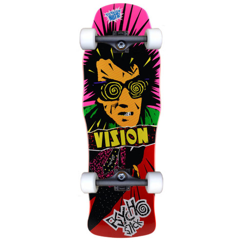 """Vision Psycho Stick Old School Reissue Red Complete 10"""" X 30"""""""