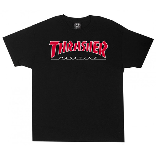 Thrasher Outlined Skate Mag Logo T-Shirt (Available in 2 Colors)