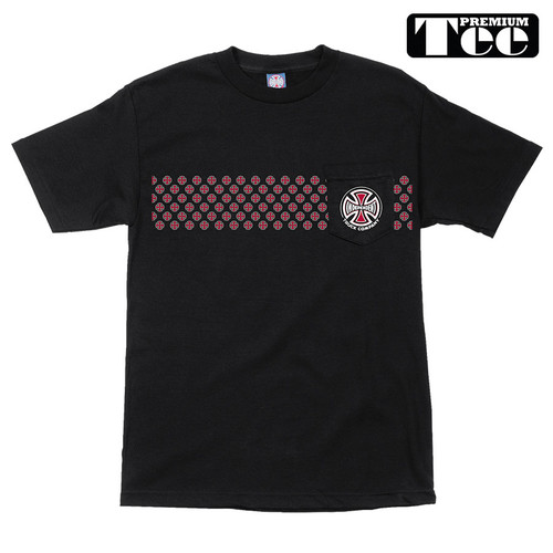 Independent Pattern Pocket T-Shirt Black