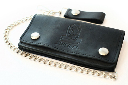 Suicidal Skates Leather Chain Wallet