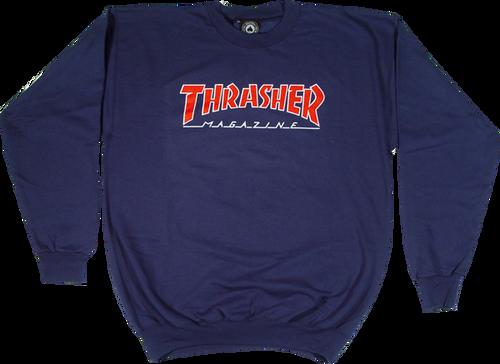 Thrasher Skate Mag Logo Outlined Crewneck Sweatshirt