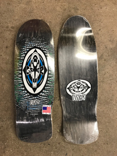 """Vision Gator Reptile Ankh Old School Reissue Deck Black Stain w/ White 10.25"""" X 31.5"""""""