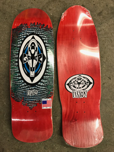 """Vision Gator Reptile Ankh Old School Reissue Deck Red Stain 10.25"""" X 31.5"""""""