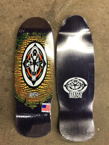 """Vision Gator Reptile Ankh Old School Reissue Deck Purple Stain w/ Yellow 10.25"""" X 31.5"""""""