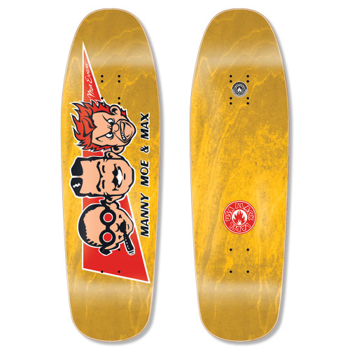 """Black Label Max Evans Manny, Moe, and Max Re-Issue Deck 9.63"""" x 32"""""""
