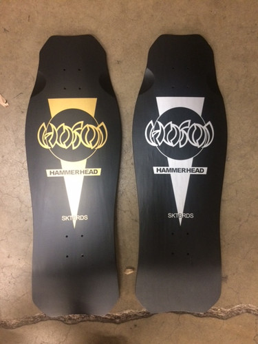 "Hosoi Skates OG Old School Re-Issue Hammerhead Black Matte Deck 10.5"" X 31"""