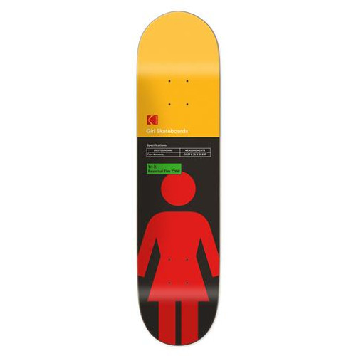 "Girl Kodak Kennedy Skateboard Deck 8.25"" x 31.625"""