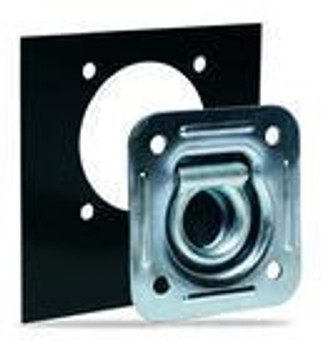 Square Recessed Floor Ring Zinc Plated (with Mounting Plate)