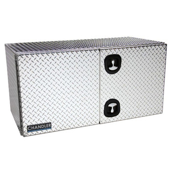 18 in. x 18 in. x 36 in. Aluminum Barn Door Style Toolbox