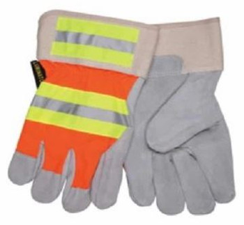 Ancra XL Reflective Leather Work Gloves