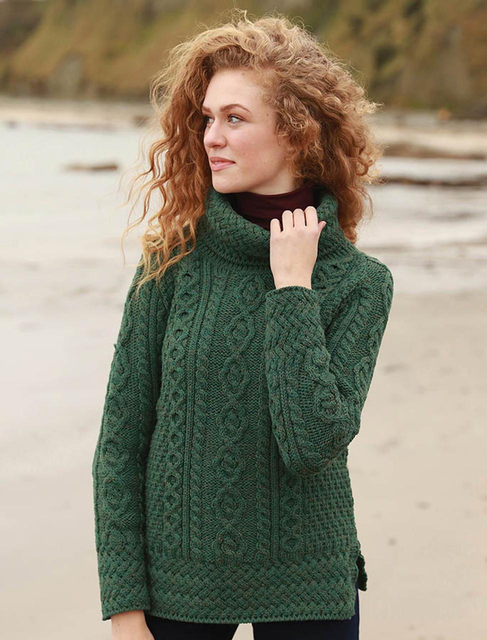 Tunic Sweater Womens Tunic Sweaters Wool Aran Glenaran