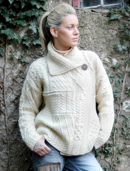 Womens Wool Cardigan Coatigans Glenaran