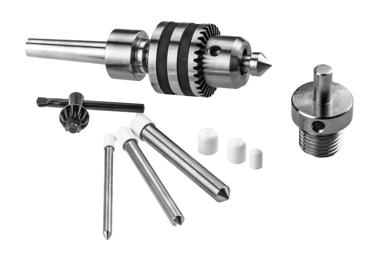 live tailstock drill chuck kit with chuck reversing