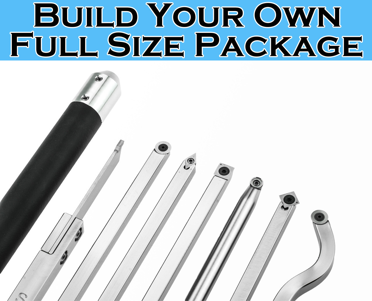 Build your own package of carbide woodturning tools for Build your own home packages