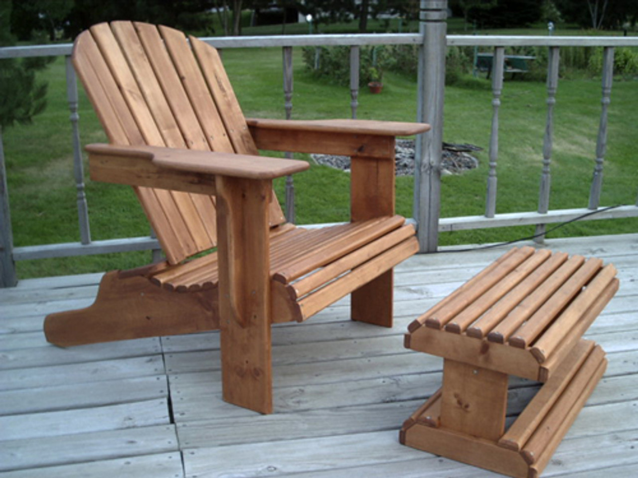 Adirondack Chair Amp Ottoman Woodworking Plans Full Size