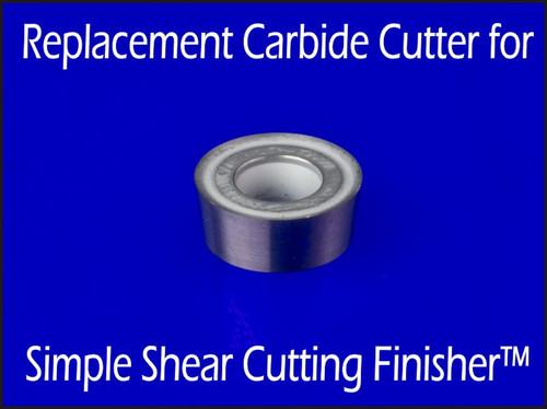 Cutter for SSCF - Replacement carbide cutter for Simple Shear Cutting Finisher