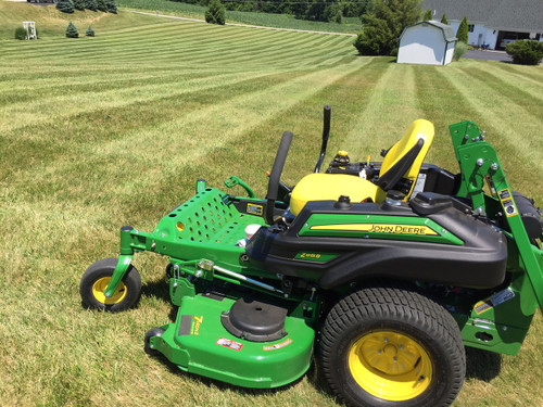 "Customer photo with this lawn striping kit on his 2016 915B with 60"" 7-Iron mower deck."