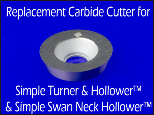 Cutter for STH or SSNH - Replacement Carbide Cutter for Simple Turner & Hollower and Simple Swan Neck Hollower Woodturning Lathe Tool