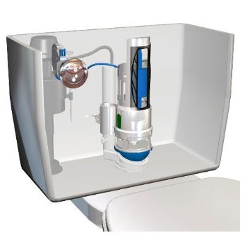 HydroRight Drop-in Dual Flush Converter Kit With Handle