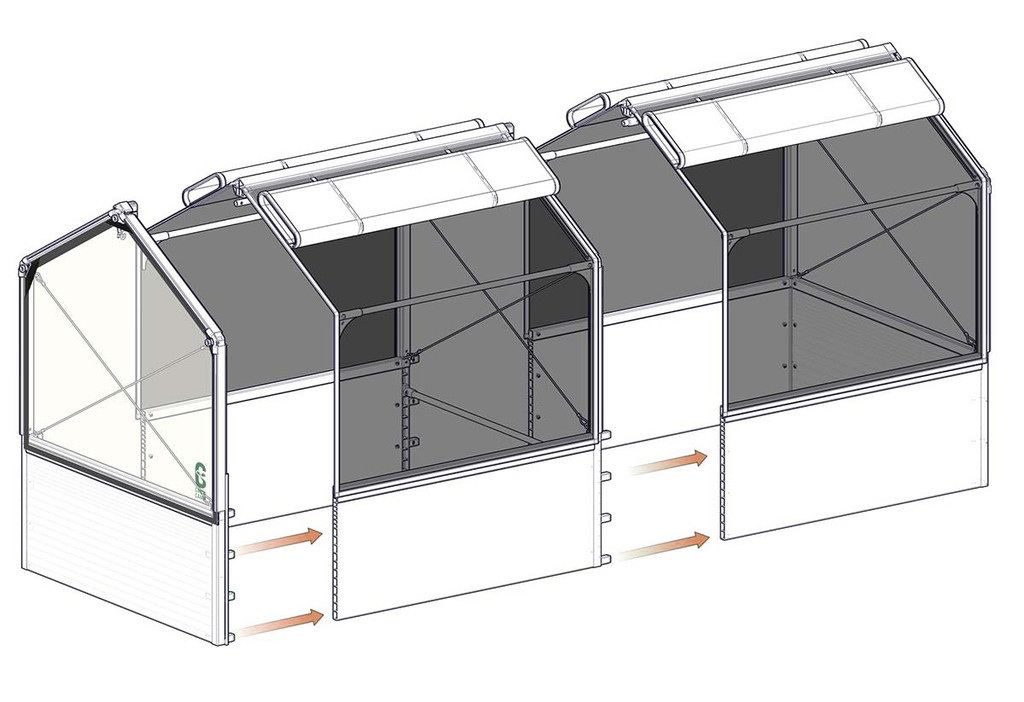 """GrowCamp Extension Module for 4' x 4' x 12"""" with 5' High Frame"""