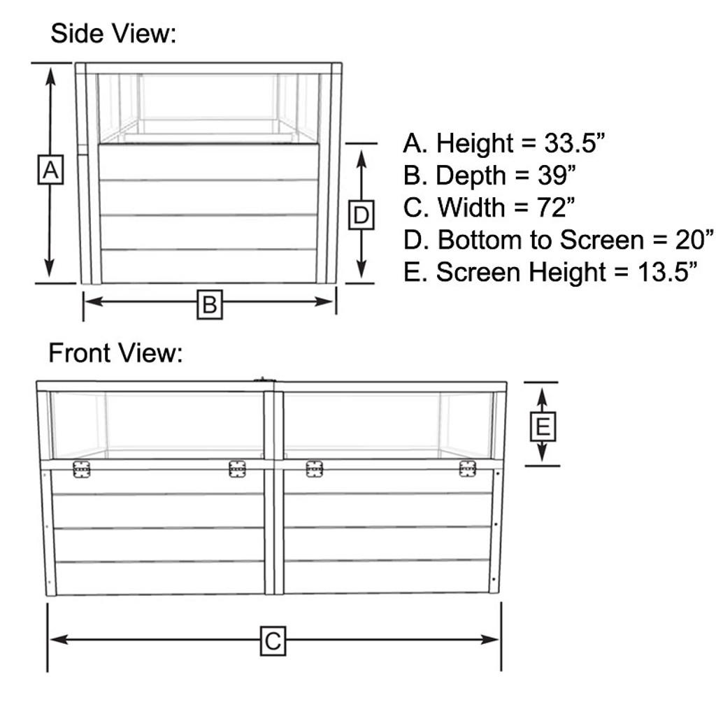 3' x 6' Raised Garden Bed Mini Greenhouse Kit