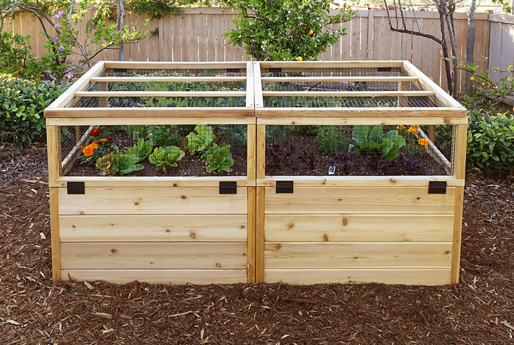 3 x 6 raised garden bed mini greenhouse kit eartheasy com