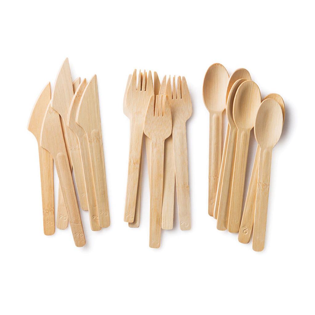 Biodegradable Bamboo Utensils  sc 1 st  Eartheasy.com & All Occasion Veneerware Bamboo Utensils   Eartheasy.com