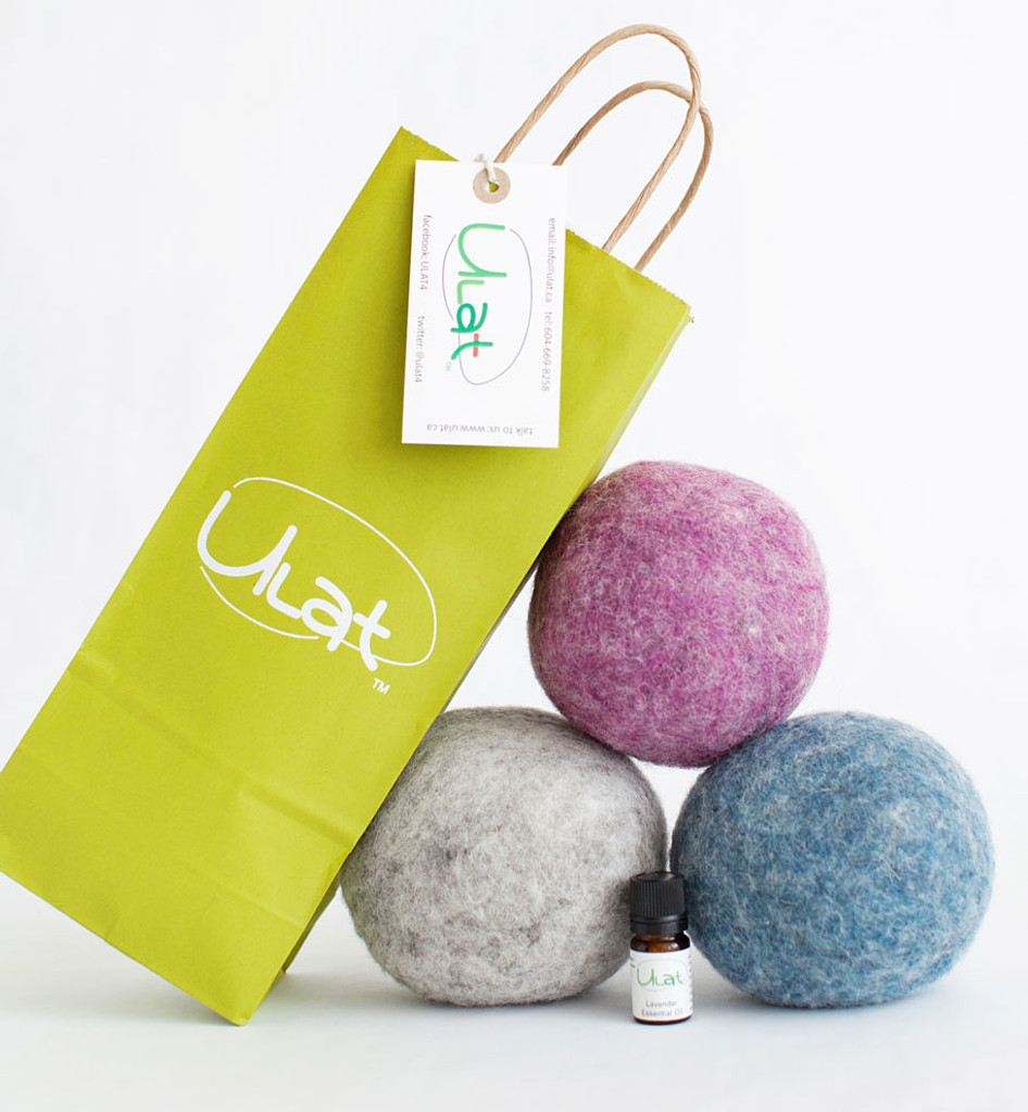 Wool Dryer Balls with Essential Oil