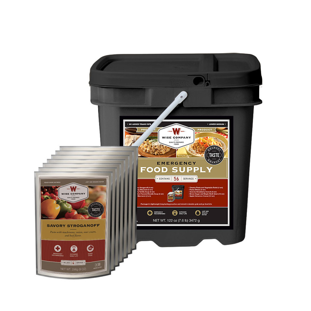 Emergency Food Supply Grab and Go Kit - 56 Servings (Breakfast and Entree)