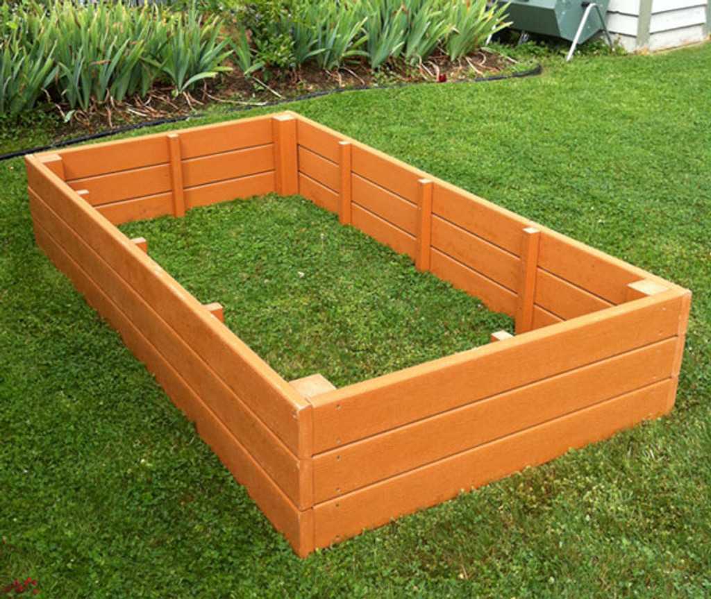 recycled plastic raised garden bed 4 x 8 - Garden Bed
