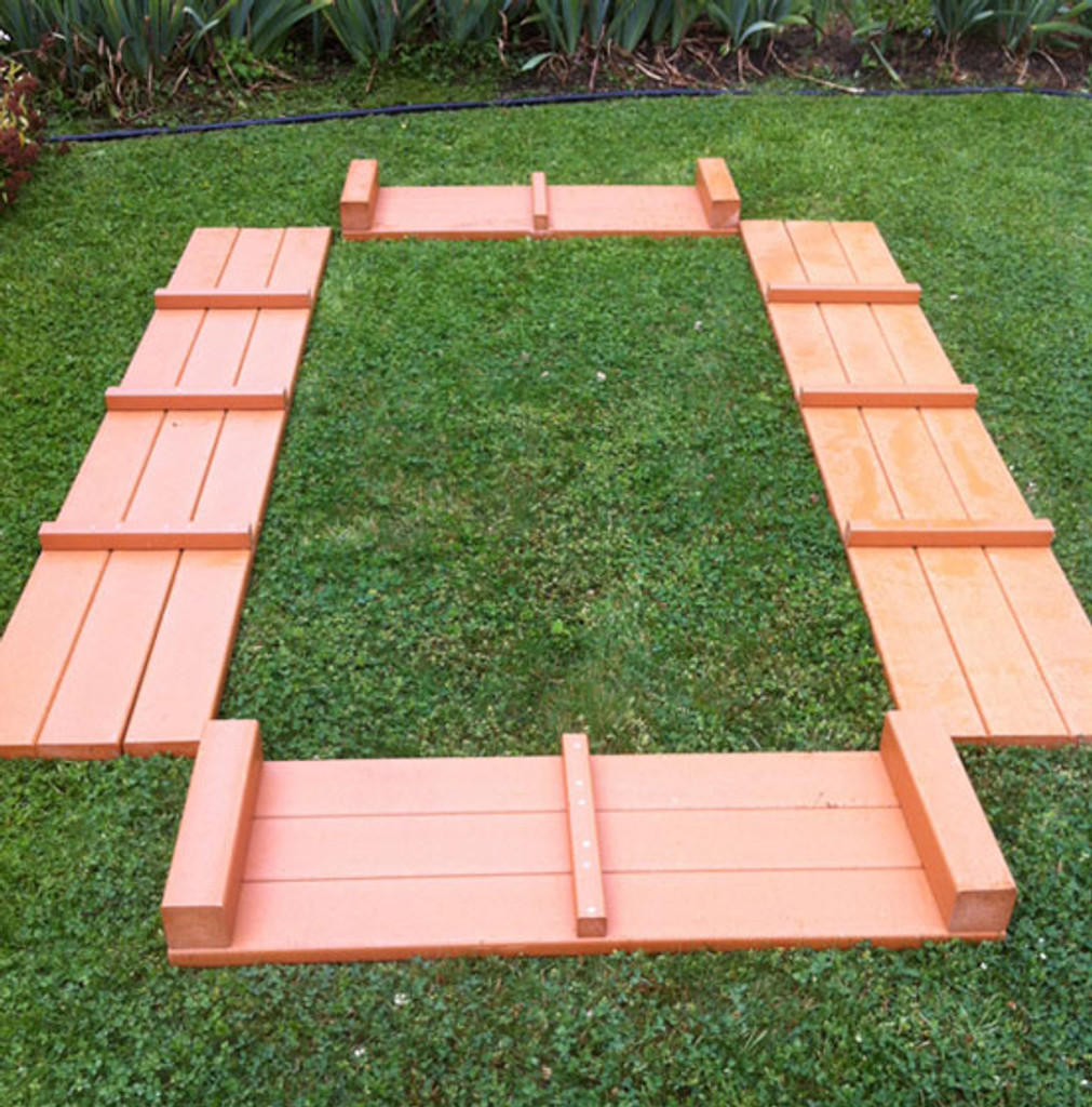 """Recycled Plastic Raised Garden Bed - 4' x 8' x 16.5"""""""